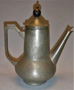 Design tinnen koffiekan, antiek Nederland