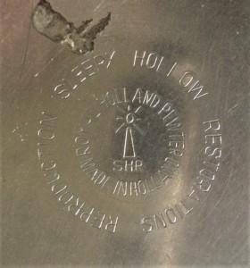 Merkteken tinnen theepotje, Sleepy Hollow, Nederlands antiek